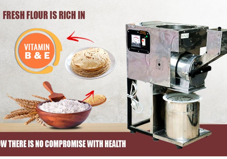 Fresh flour is rich in Vitamin B & E now there is no compromise with health.